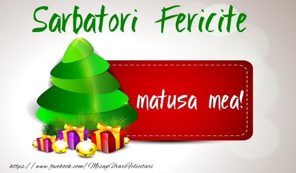 Felicitari de Craciun pentru Matusa - Sarbatori fericite matusa mea!