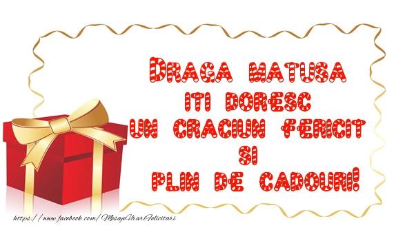 Felicitari de Craciun pentru Matusa - Draga matusa iti doresc un Craciun Fericit  si  plin de cadouri!