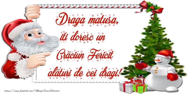Felicitari de Craciun pentru Matusa - Draga matusa, iti doresc un Crăciun Fericit alături de cei dragi!