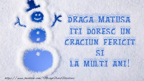 Felicitari de Craciun pentru Matusa - Draga matusa iti doresc un Craciun Fericit si La multi ani!