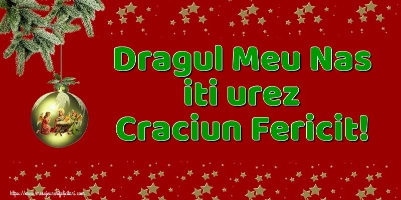 Felicitari de Craciun pentru Nas - Dragul meu nas iti urez Craciun Fericit!