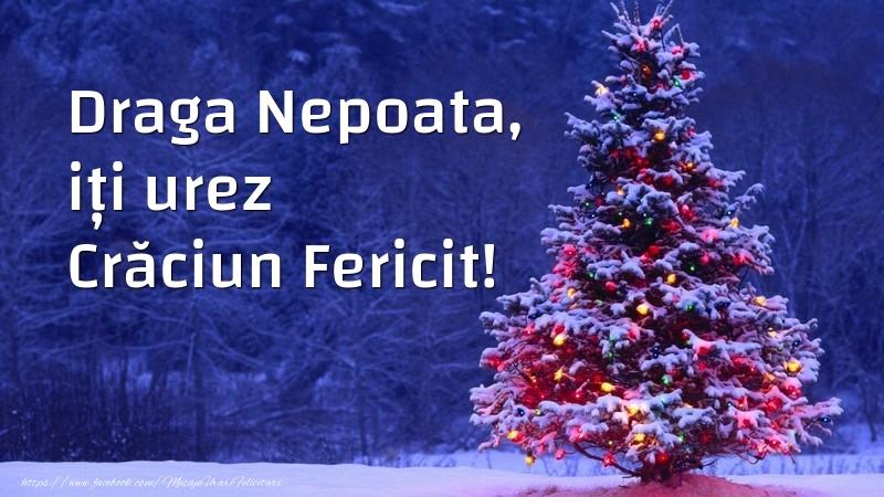 Felicitari de Craciun pentru Nepoata - Draga nepoata, iți urez Crăciun Fericit!