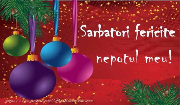 Felicitari de Craciun pentru Nepot - Sarbatori fericite nepotul meu!