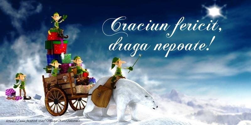 Felicitari de Craciun pentru Nepot - Craciun fericit, draga nepoate!