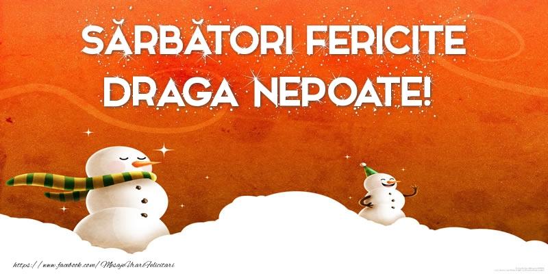 Felicitari de Craciun pentru Nepot - Sărbători Fericite draga nepoate!