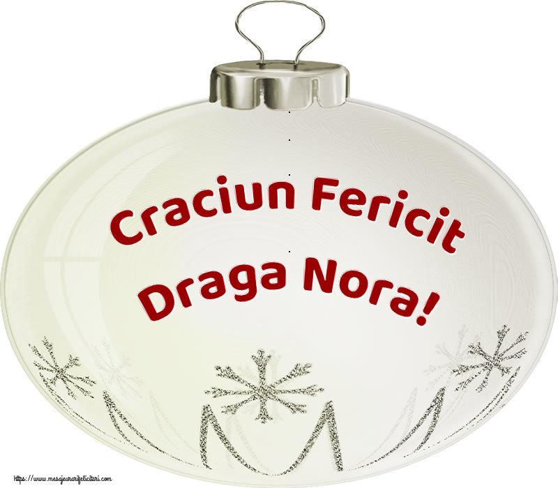 Felicitari de Craciun pentru Nora - Craciun Fericit draga nora!
