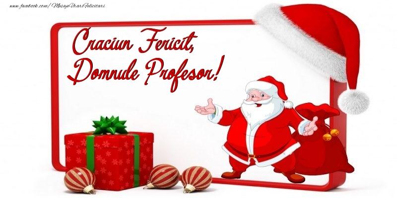 Felicitari de Craciun pentru Profesor - Craciun Fericit, domnule profesor
