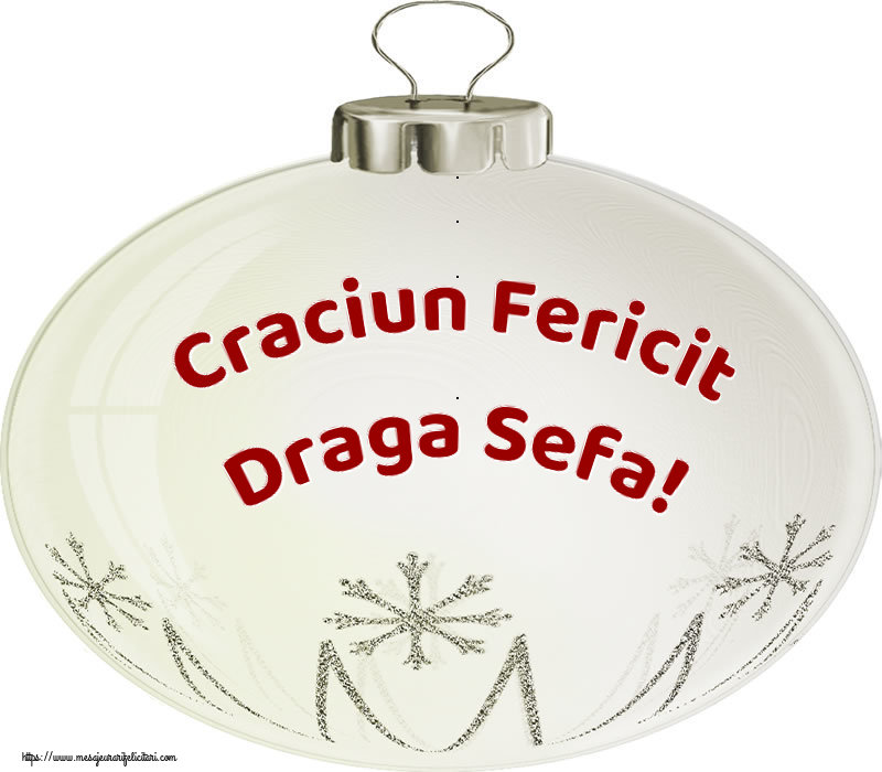 Felicitari de Craciun pentru Sefa - Craciun Fericit draga sefa!