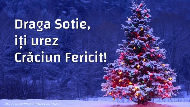 Felicitari de Craciun pentru Sotie - Draga sotie, iți urez Crăciun Fericit!