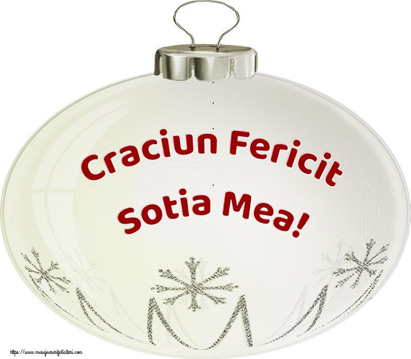 Felicitari de Craciun pentru Sotie - Craciun Fericit sotia mea!