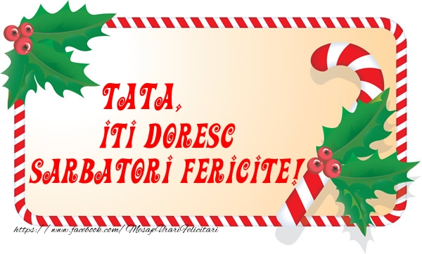 Felicitari de Craciun pentru Tata - Tata Iti Doresc Sarbatori Fericite!