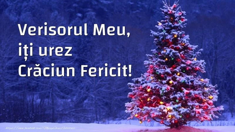 Felicitari de Craciun pentru Verisor - Verisorul meu, iți urez Crăciun Fericit!