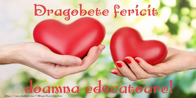 Felicitari de Dragobete pentru Educatoare - Dragobete fericit doamna educatoare!