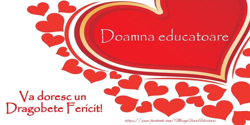 Felicitari de Dragobete pentru Educatoare - Doamna educatoare va doresc un Dragobete Fericit!