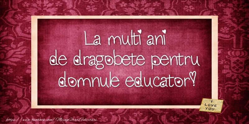 Felicitari de Dragobete pentru Educator - La multi ani de dragobete pentru domnule educator!