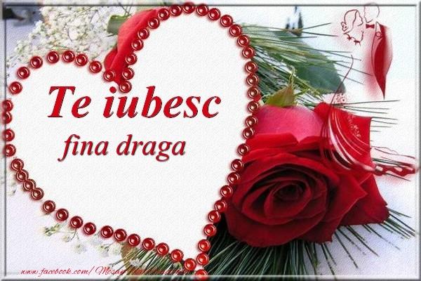 Felicitari de Dragobete pentru Fina - Te iubesc  fina draga