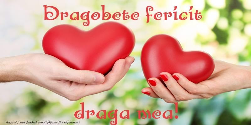 Felicitari de Dragobete pentru Iubita - Dragobete fericit draga mea!