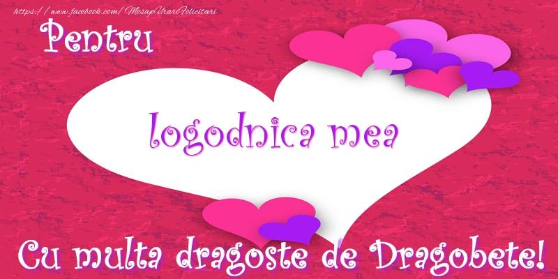Felicitari de Dragobete pentru Logodnica - Pentru logodnica mea Cu multa dragoste de Dragobete!