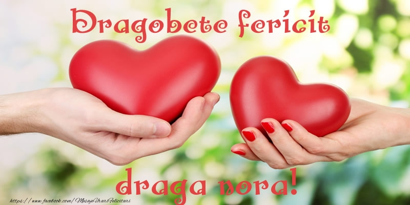 Felicitari de Dragobete pentru Nora - Dragobete fericit draga nora!