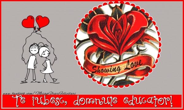 Felicitari de dragoste pentru Educator - Te iubesc, domnule educator!