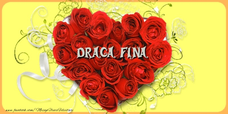 Felicitari de dragoste pentru Fina - Draga fina