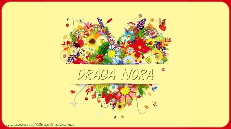Felicitari de dragoste pentru Nora - Nume in inima draga nora