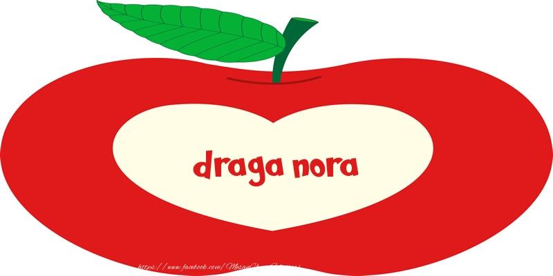 Felicitari de dragoste pentru Nora - O inima pentru draga nora