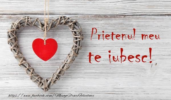 Felicitari de dragoste pentru Prieten - Prietenul meu, Te iubesc