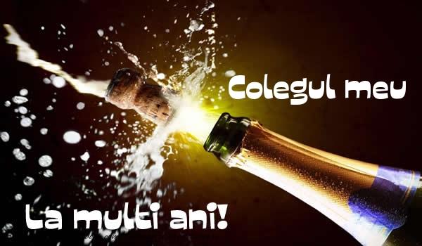 Felicitari de la multi ani pentru Coleg - Colegul meu La multi ani!