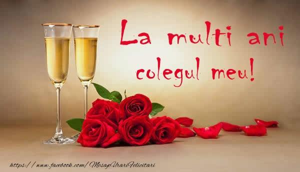 Felicitari de la multi ani pentru Coleg - La multi ani colegul meu!