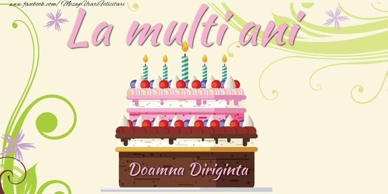 Felicitari de la multi ani pentru Diriginta - La multi ani, doamna diriginta!