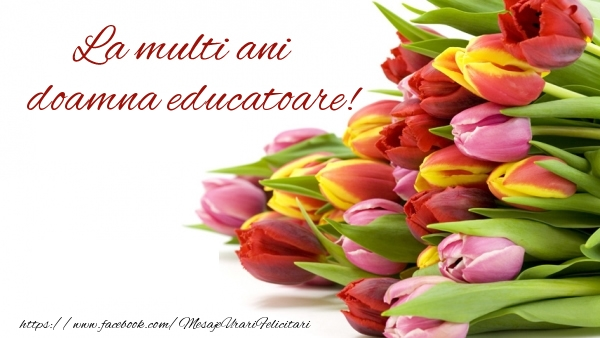 Felicitari de la multi ani pentru Educatoare - La multi ani doamna educatoare!