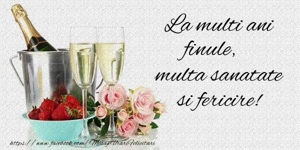 Felicitari de la multi ani pentru Fin - La multi ani finule Multa sanatate si fericire!
