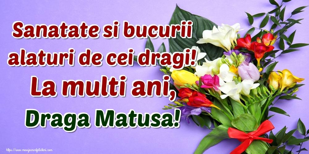 Felicitari de la multi ani pentru Matusa - Sanatate si bucurii alaturi de cei dragi! La multi ani, draga matusa!