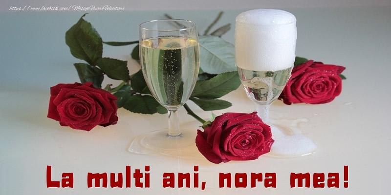 Felicitari de la multi ani pentru Nora - La multi ani, nora mea!