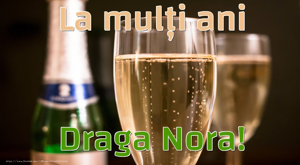 Felicitari de la multi ani pentru Nora - La mulți ani draga nora!