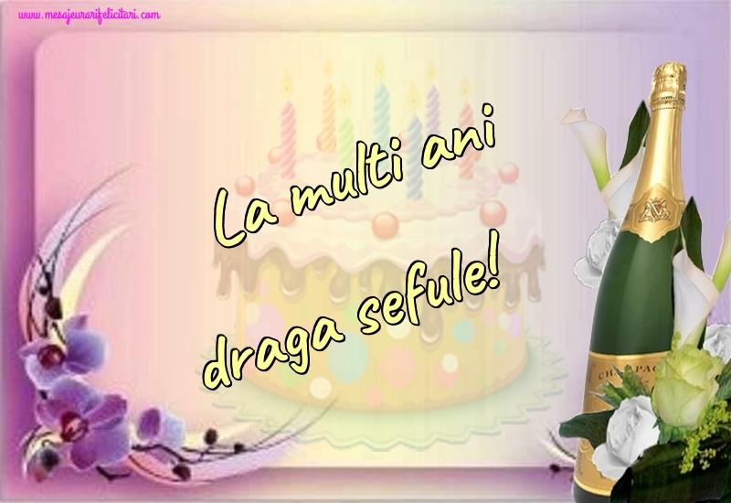 Felicitari de la multi ani pentru Sef - La multi ani draga sefule!