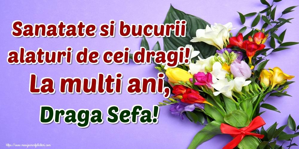 Felicitari de la multi ani pentru Sefa - Sanatate si bucurii alaturi de cei dragi! La multi ani, draga sefa!