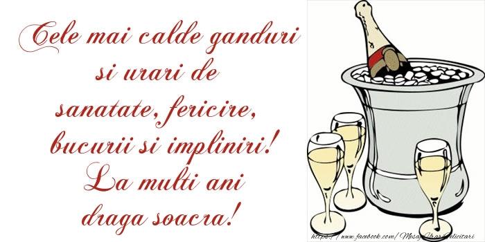 Felicitari de la multi ani pentru Soacra - Cele mai calde ganduri si urari de sanatate, fericire, bucurii si impliniri! La multi ani draga soacra!