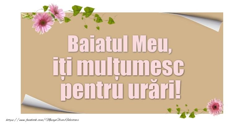 Felicitari de multumire pentru Baiat - Baiatul meu, iți mulțumesc pentru urări!