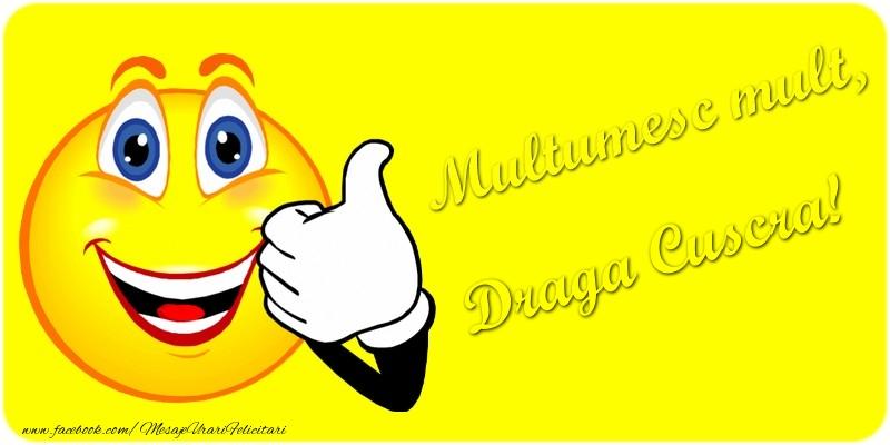 Felicitari de multumire pentru Cuscra - Multumesc mult.draga cuscra