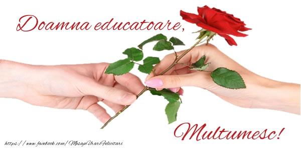 Felicitari de multumire pentru Educatoare - Doamna educatoare Multumesc!