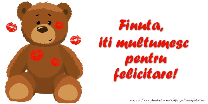 Felicitari de multumire pentru Fina - Finuta iti multumesc pentru felicitare!