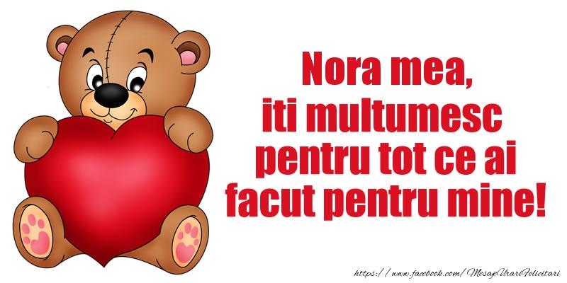 Felicitari de multumire pentru Nora - Nora mea iti multumesc pentru tot ce ai facut pentru mine!