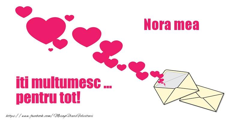 Felicitari de multumire pentru Nora - Nora mea iti multumesc ... pentru tot!