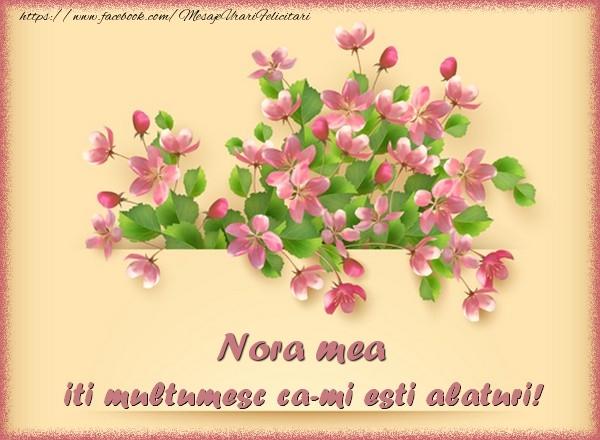 Felicitari de multumire pentru Nora - Nora mea, iti multumesc ca-mi esti alaturi!