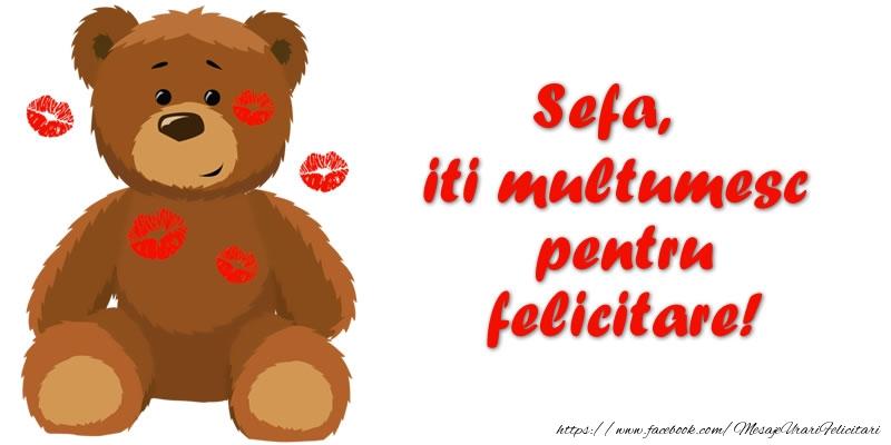 Felicitari de multumire pentru Sefa - Sefa iti multumesc pentru felicitare!