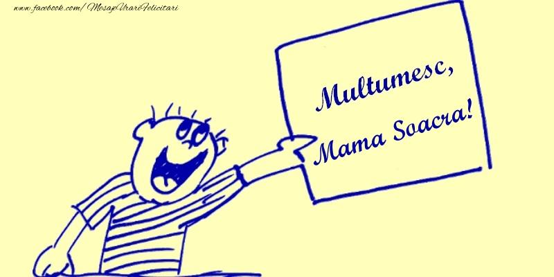 Felicitari de multumire pentru Soacra - Multumesc, mama soacra