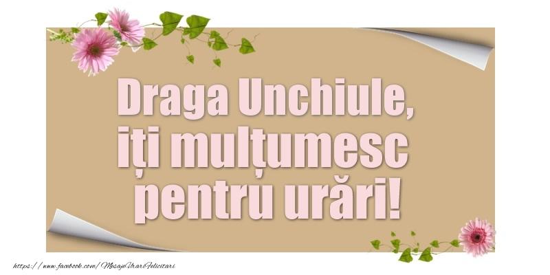Felicitari de multumire pentru Unchi - Draga unchiule, iți mulțumesc pentru urări!
