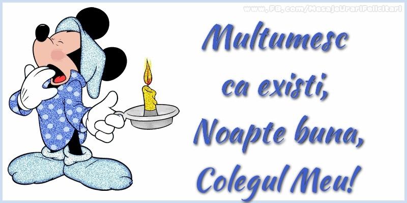 Felicitari de noapte buna pentru Coleg - Multumesc ca existi, Noapte buna, colegul meu